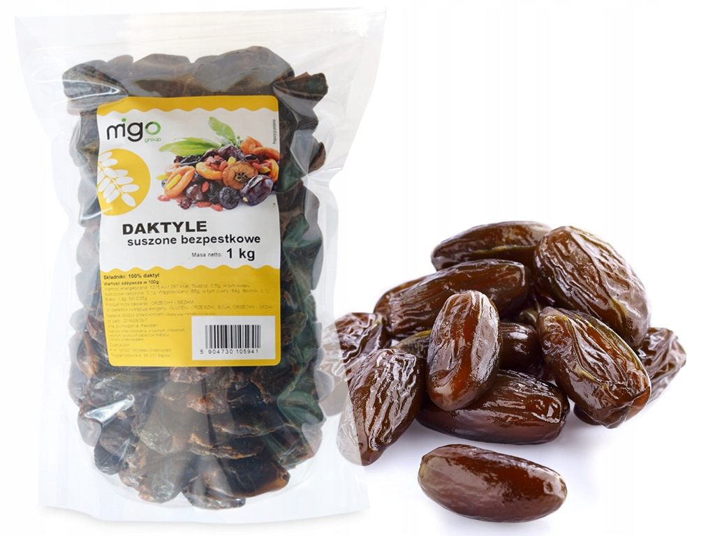 Item Dried DATES pitted 1kg DELICIOUS - MIGOgroup