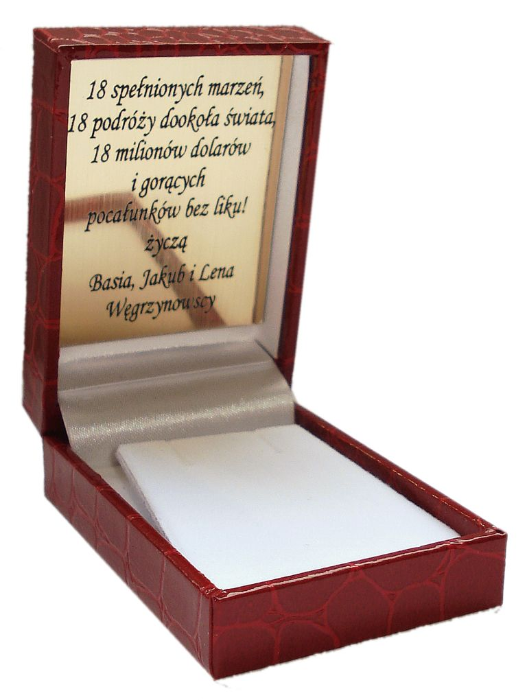 Item Packing box + label with a dedication ENGRAVER