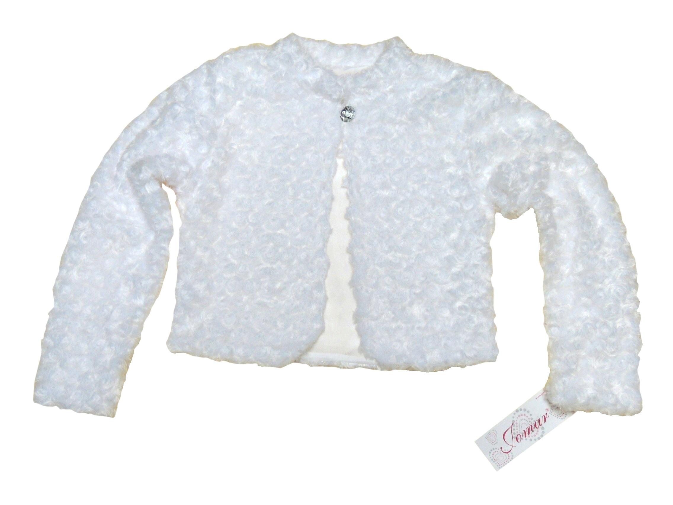 JOMAR biele Bolero futerkowe rubeole 134 B