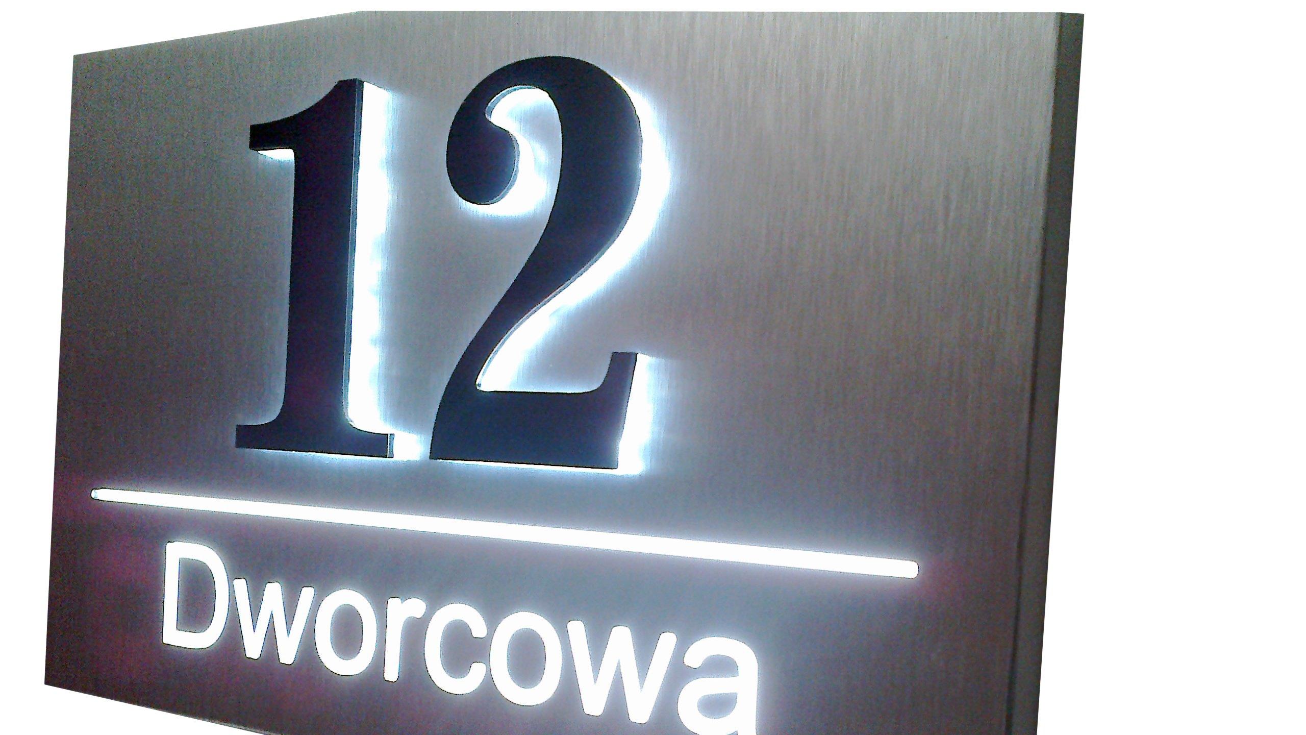 Numer domu podświetlany kaseton LED 30x20cm