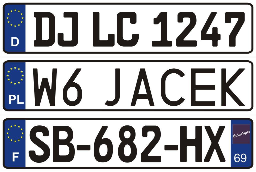 Tablica Rejestracyjna Z Twoim Imieniem Logo Wa Wa Legionowo Allegro Pl