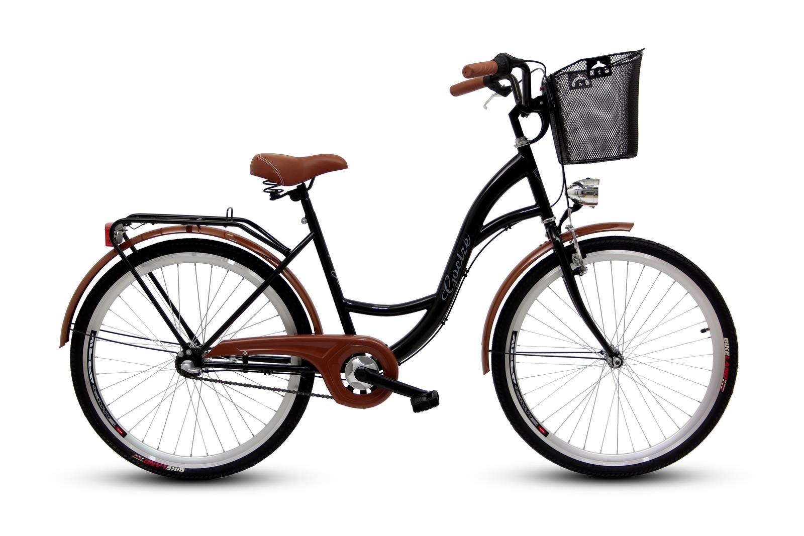 Dámsky mestský bicykel GOETZE 26, 3-rýchlostný kôš zadarmo!  Váha 16 kg