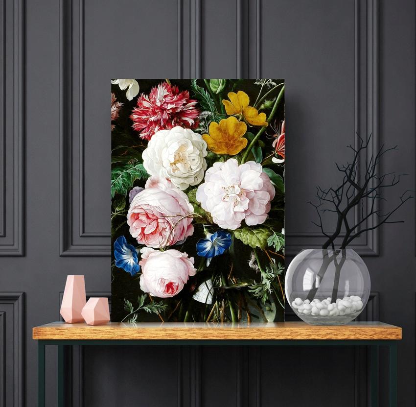 Plagát, obraz ročníka, kvety, ruže, boho 61x91cm