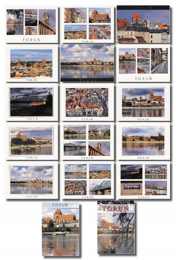 Toruń Postcard set 17ks