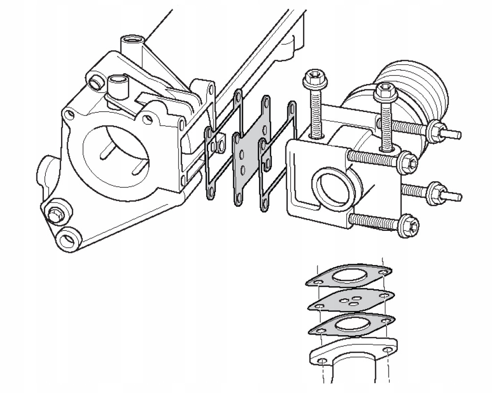13. Zaślepka EGR Opel Fiat Alfa Lancia 1.9 2.4 JTD