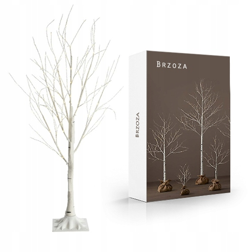 Drzewko Ozdobne Brzoza 120cm Lampki Swiateczne Led 7686454694 Allegro Pl