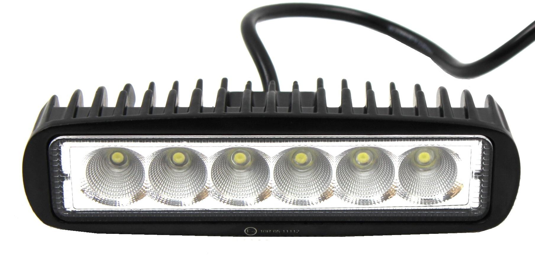 лампа рабочая 6 led панель отвлекаться 18w ce homol