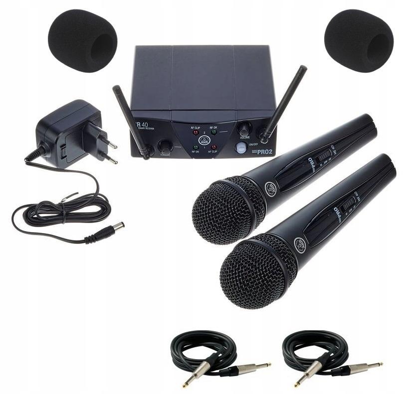 Microfóny AKG WMS-40 MINI 2 DUAL VOCAL SET + ZADARMO