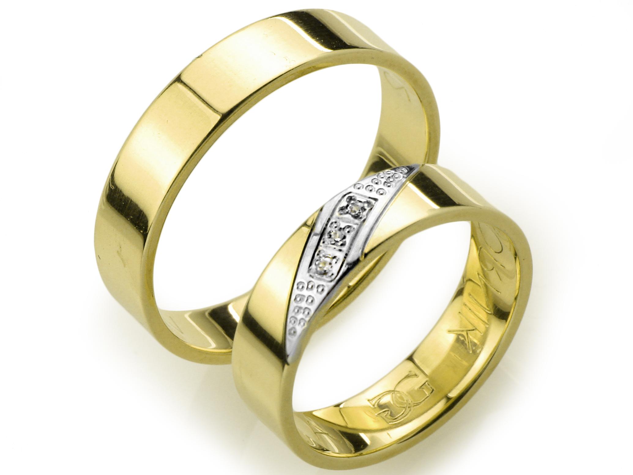 Item GOLDRUN GOLD WEDDING RING A-12 5MM PAIR