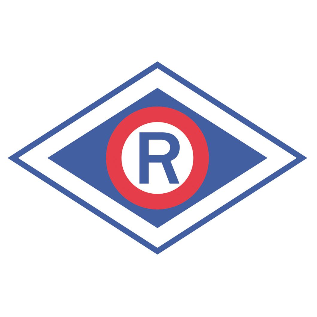 Doprava R Policajný automobilový nálepka 10 cm