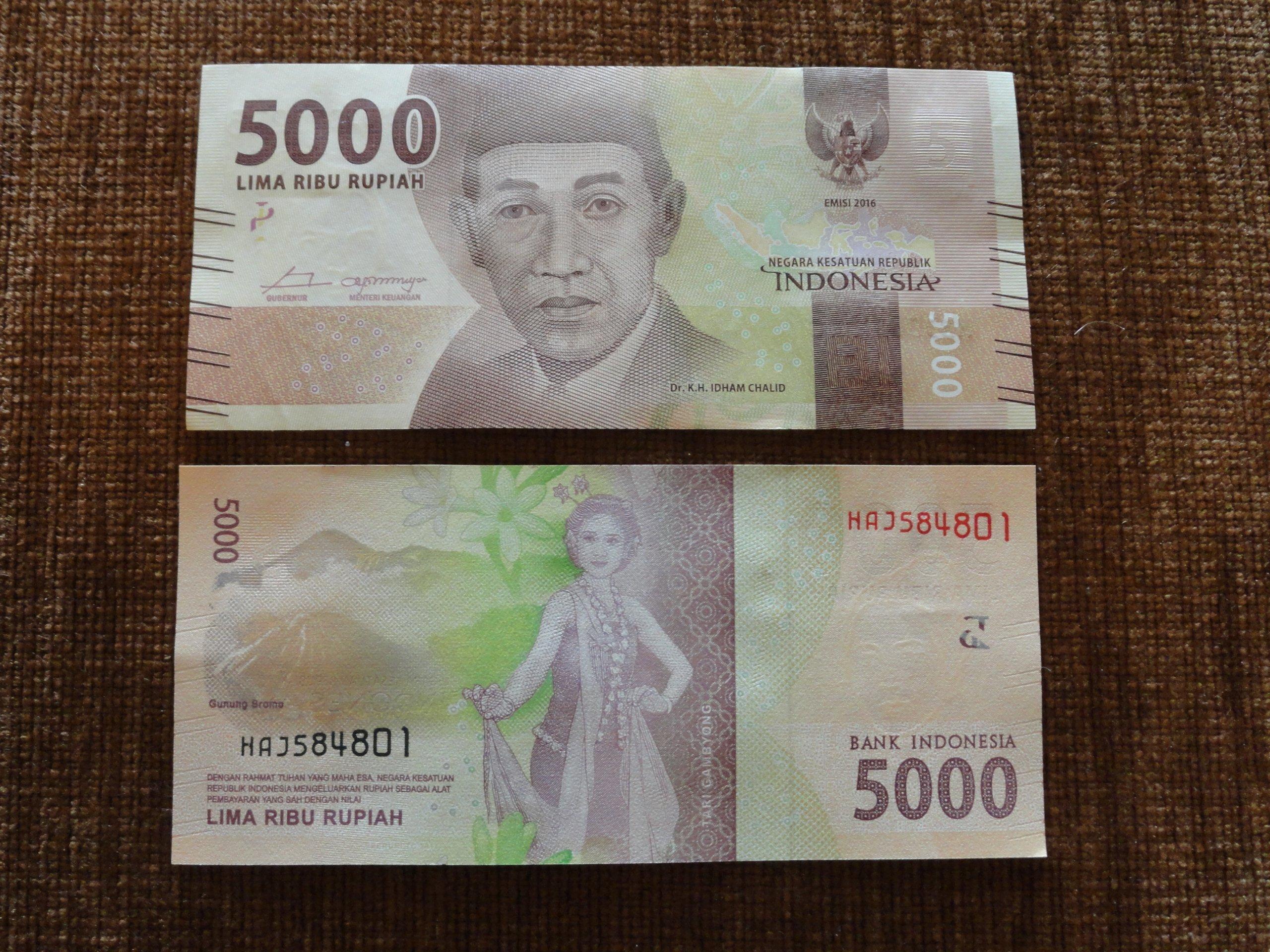 258 ИНДОНЕЗИЯ 5000 РУП UNC