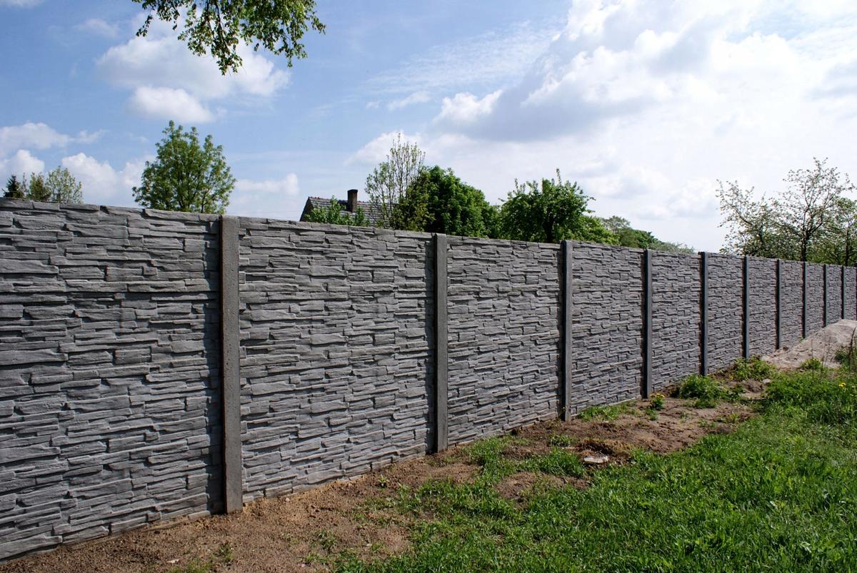 бетонный забор фотографии