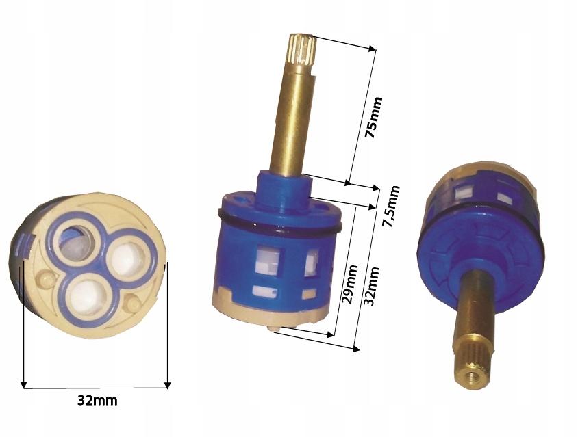 SPÍNAČ HLAVY MIXÉRA 3 FUNKCIE 32 mm / 75 mm