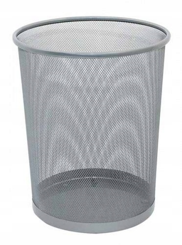 Item The trash can metal 19l silver