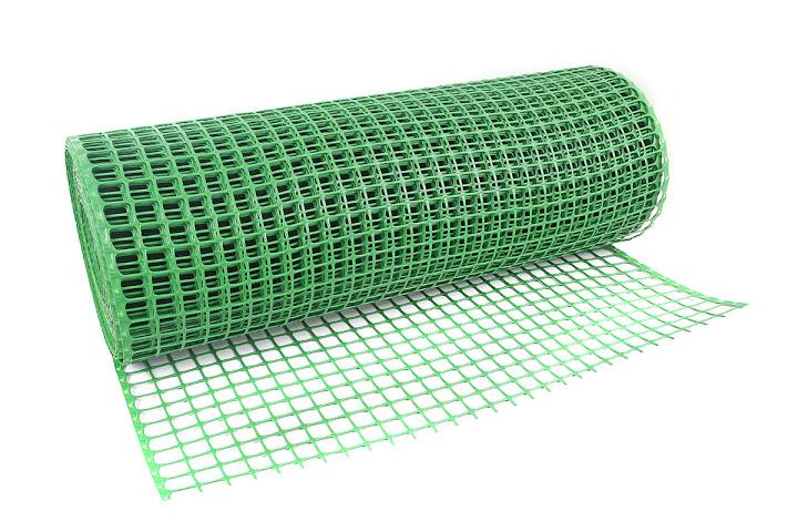 SIATKA RABATOWA plastikowa PCV ZIELONA 0,60x25m.