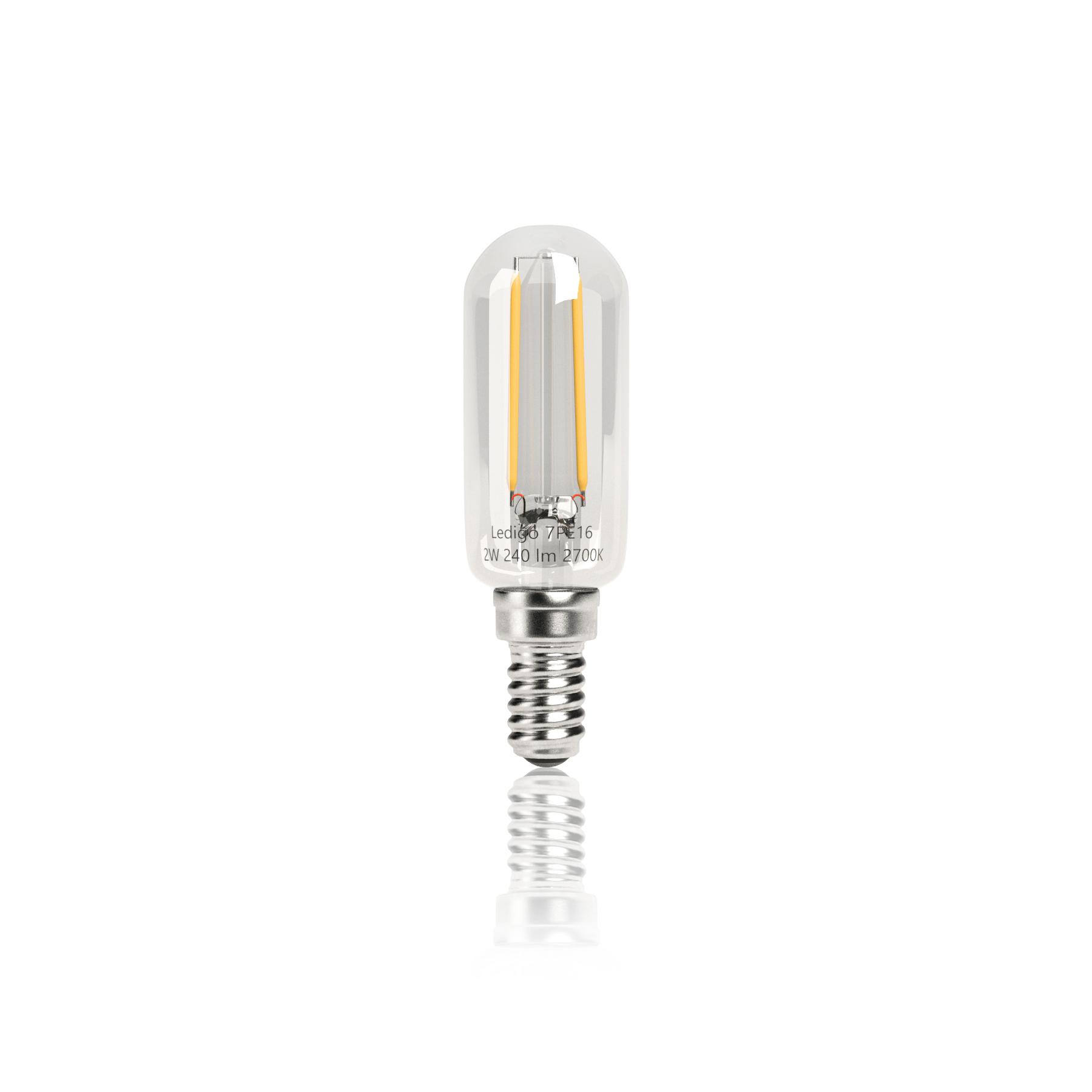 Úzke LED žiarovka E14 2W=20 W Teplo Retro vintage
