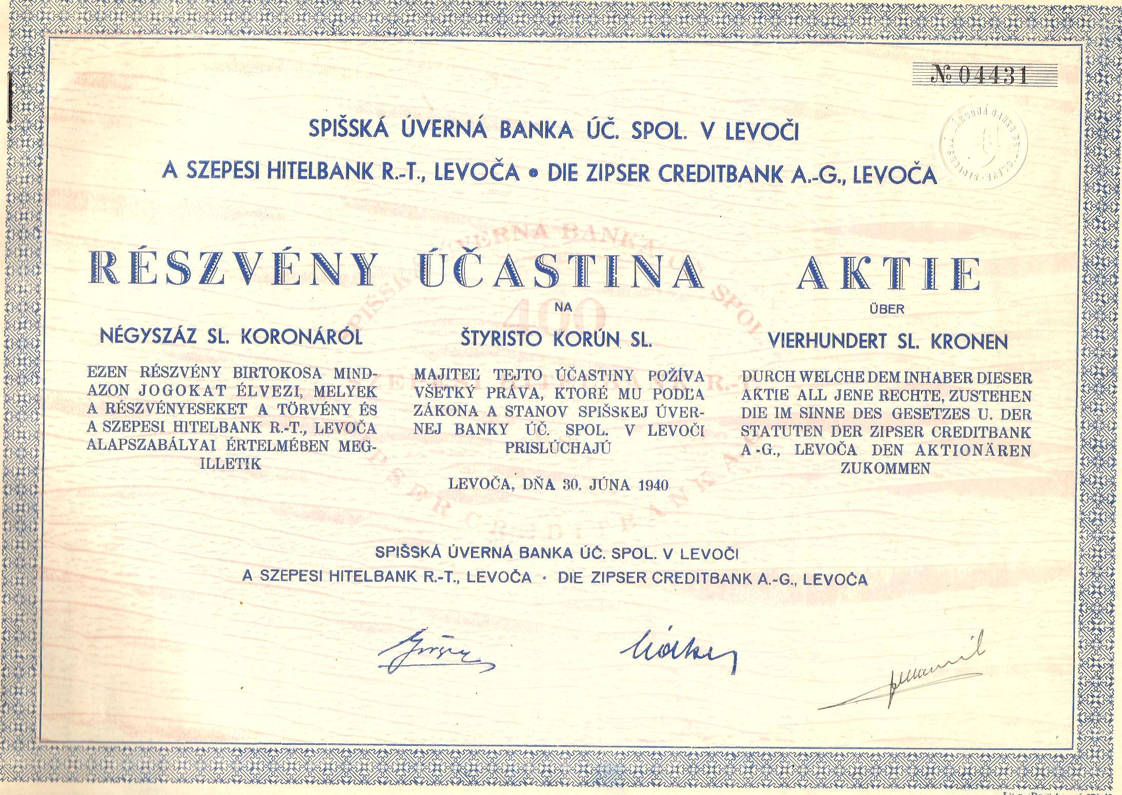 RRR!ЗАГОВОРЫ БАНК КРЕДИТНЫЙ! ЛЕВОЧА, СЛОВАКИЯ! 1940! доставка товаров из Польши и Allegro на русском