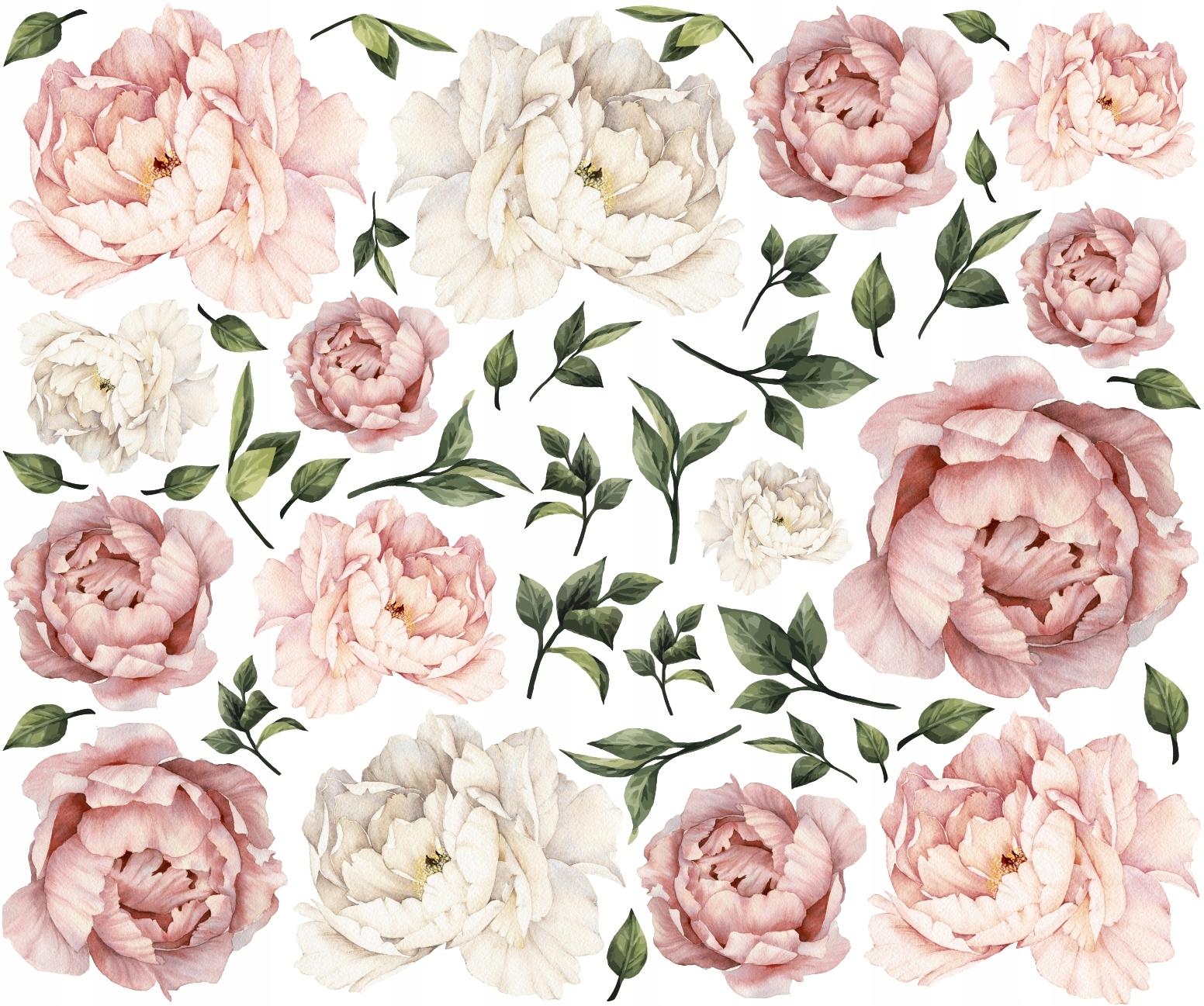 Piwonie Kwiaty Peonie Naklejki Na Sciane 120cm Xxl 7505226625