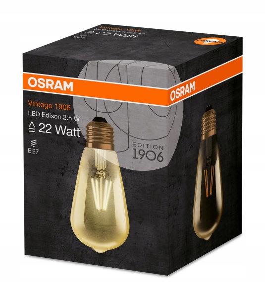 LED žiarovka 2.8 W=22W E27 Tepla 1906 Vintage OSRAM