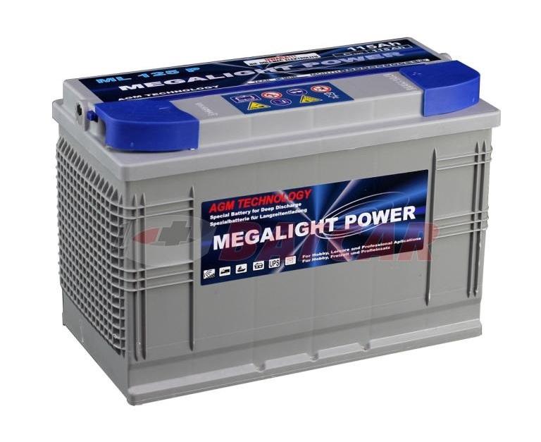 AGM batérie Pre Vašu Loď thermotrousers MEGAlight 115 Ah