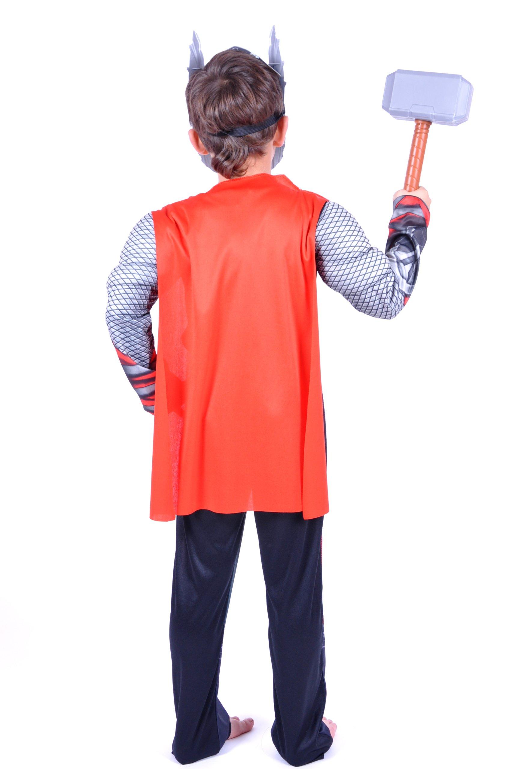 Kostium strój THOR maska młot mięśnie S 116-122 Płeć Chłopcy