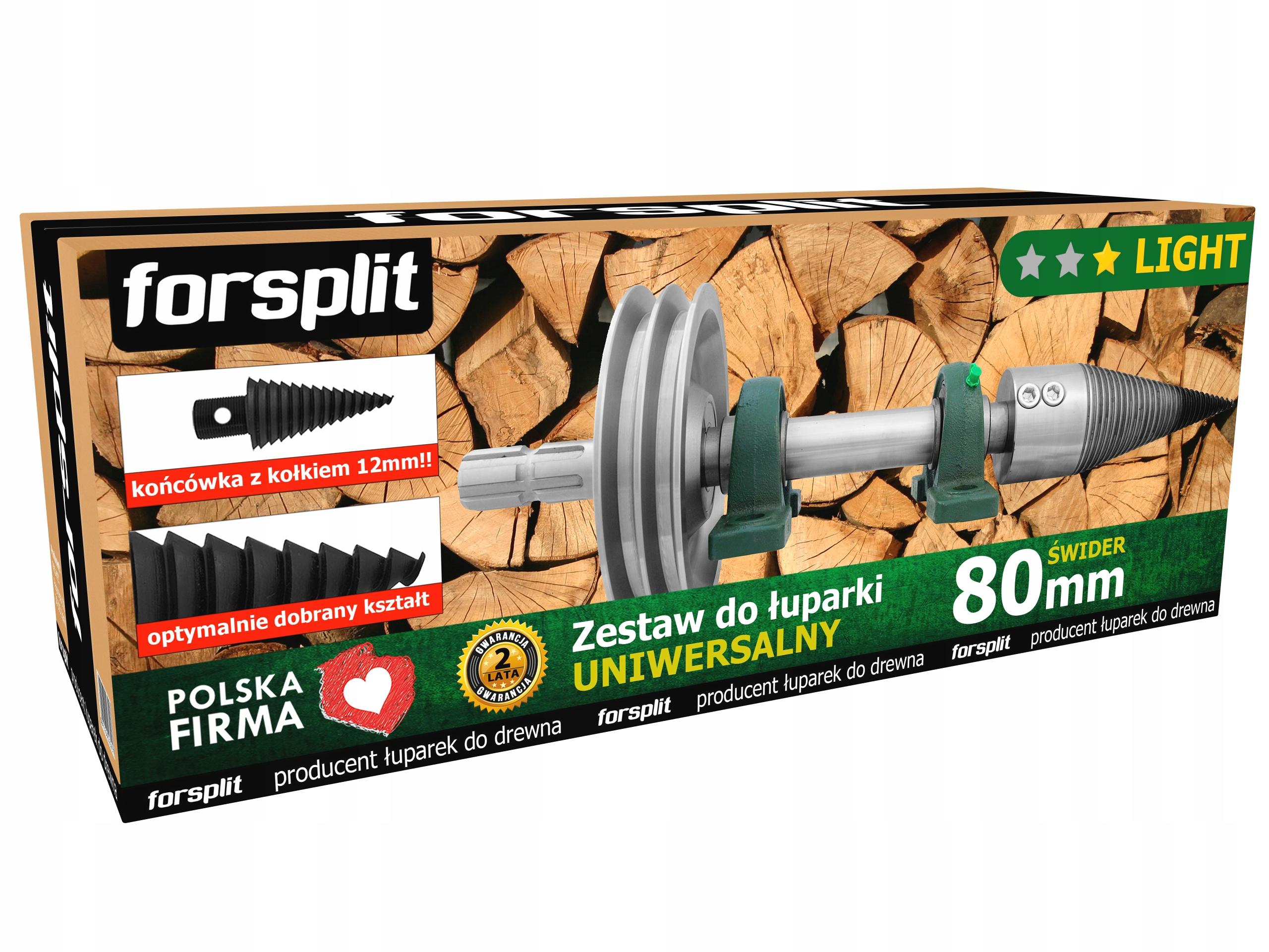 Drevený splitter 80mm Wom s kolesom