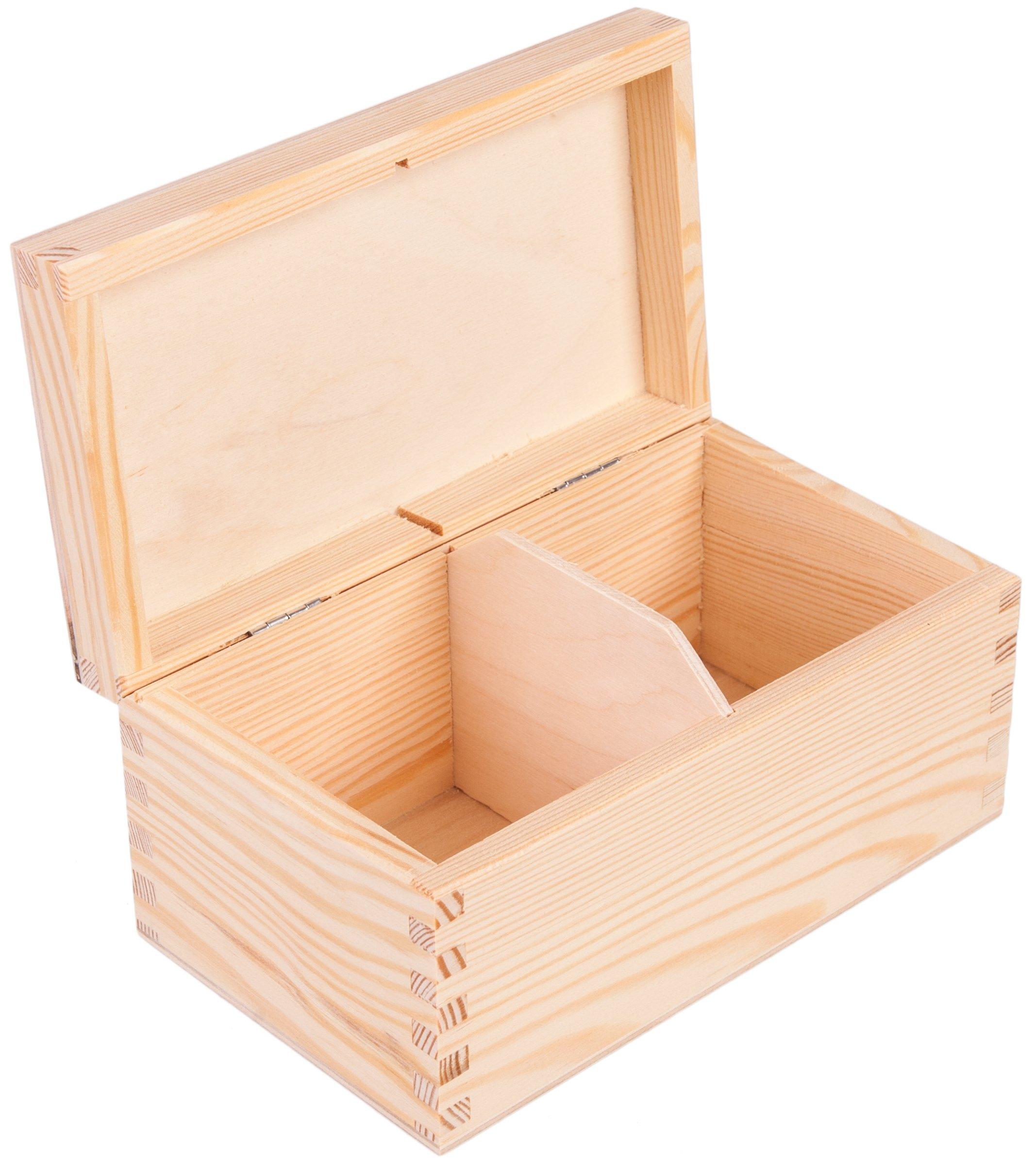 Darčeková krabička šperky box 2 drevené oddiely