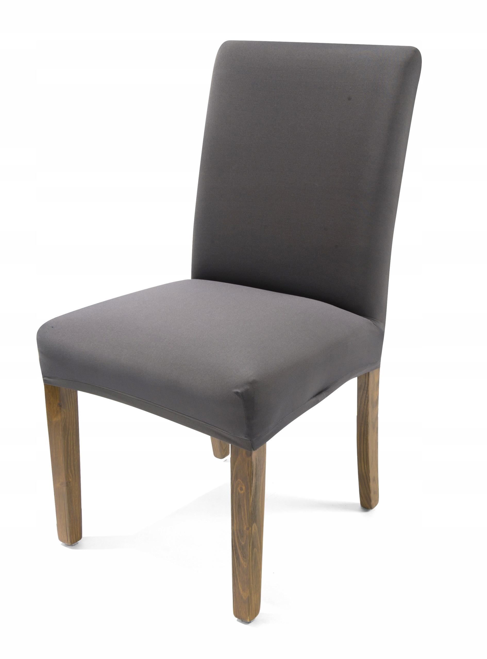 чехол на стул гибкий спандекс серый седой