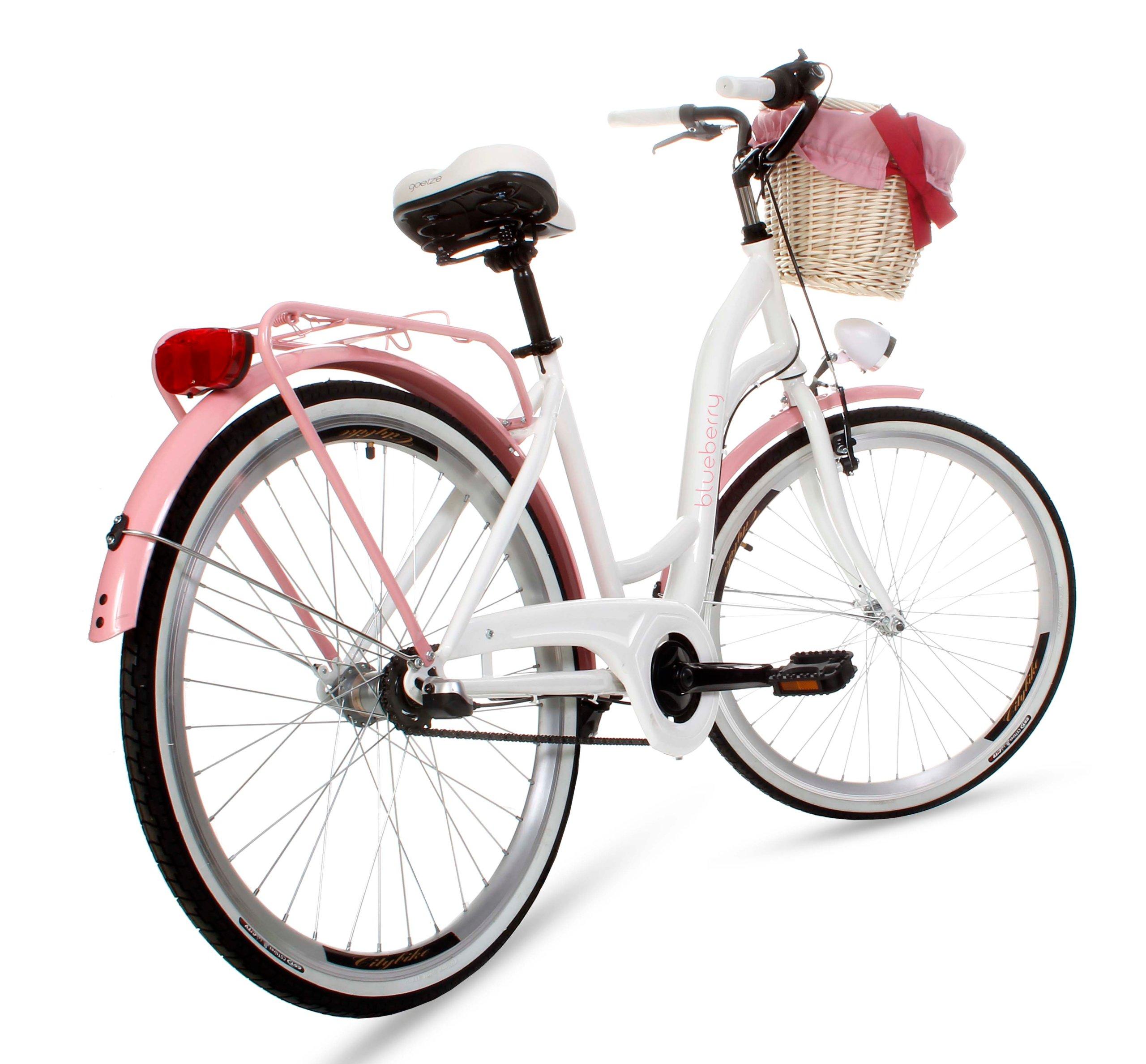 Dámsky mestský bicykel Goetze BLUEBERRY 26 3b košík!  Prehadzovačka vnútorná (náboj)
