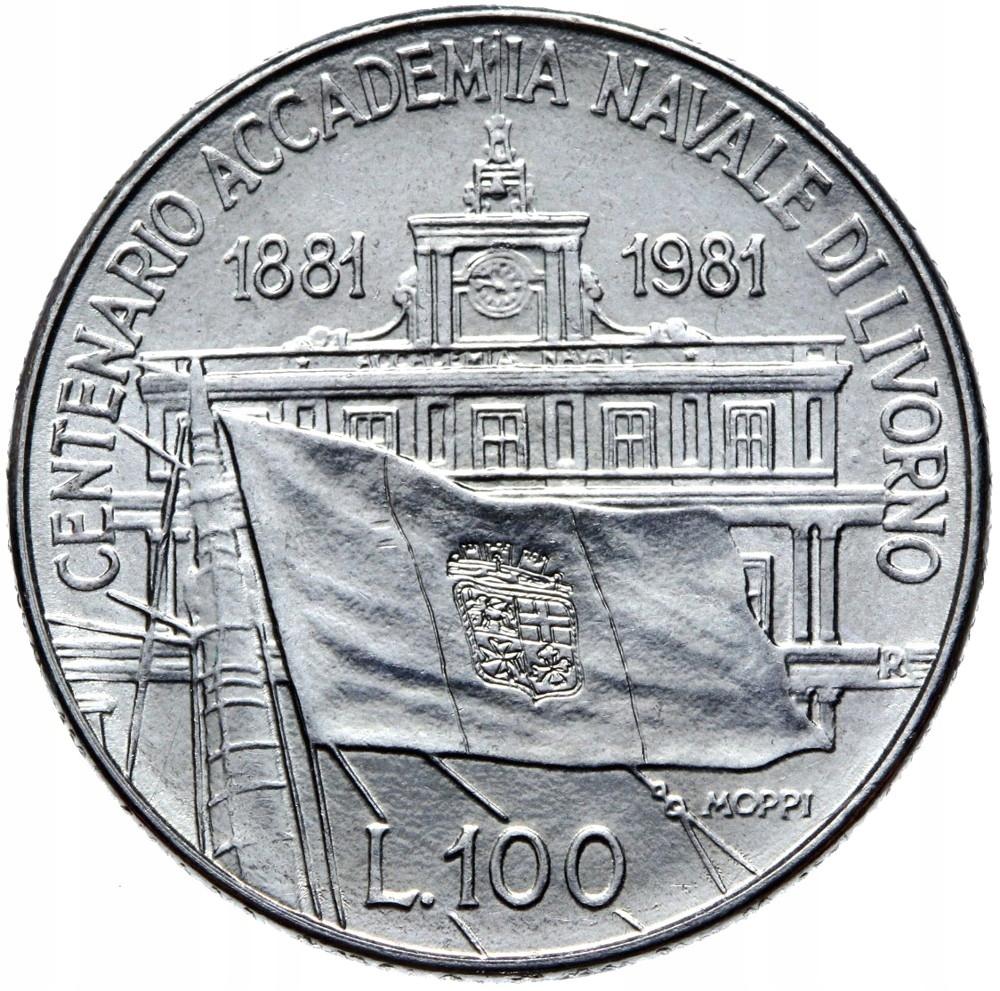 Taliansko - Moneta - 100 LIR 1981 - Sea Academy