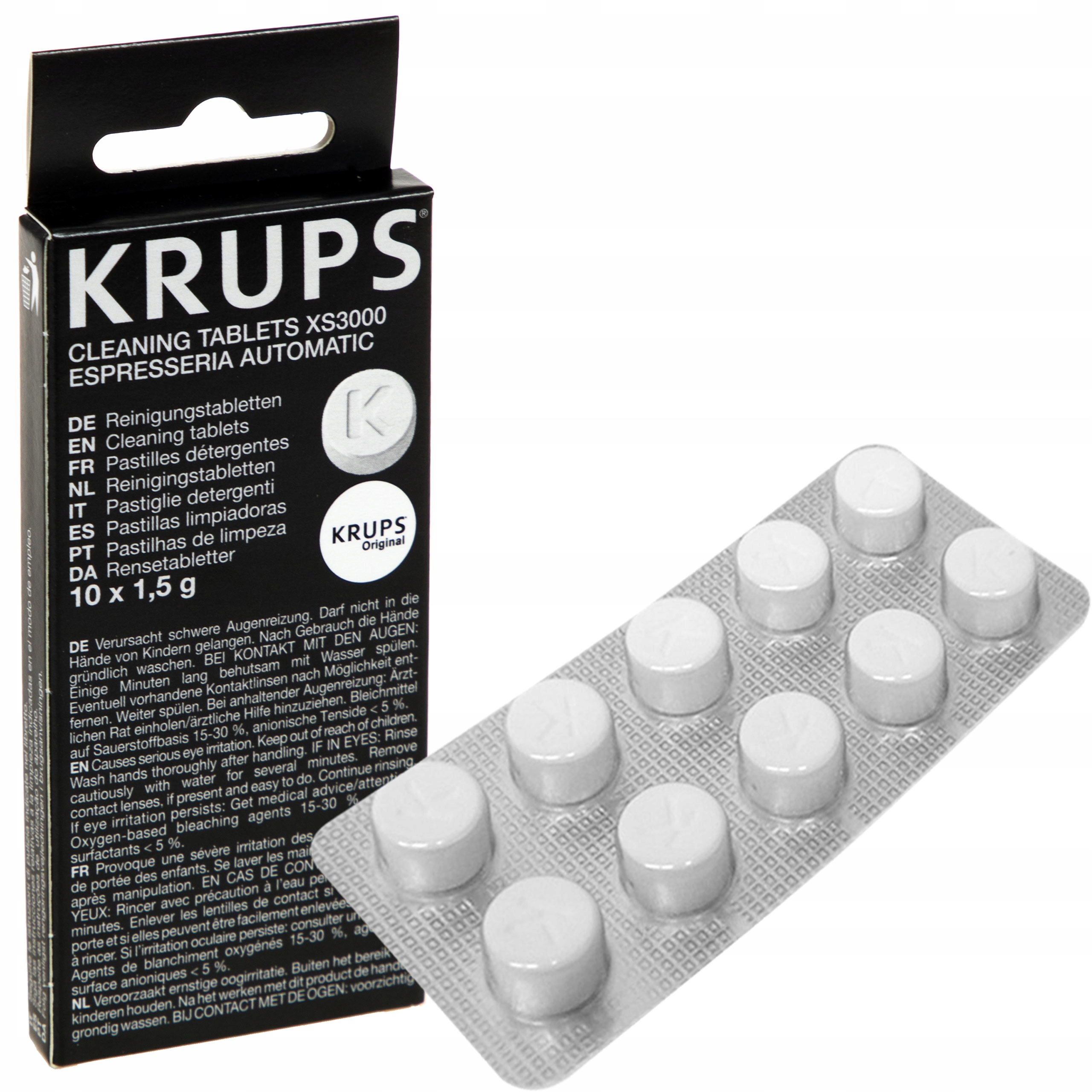Item CLEANING TABLETS COFFEE MACHINE KRUPS XS3000 ORIGINAL