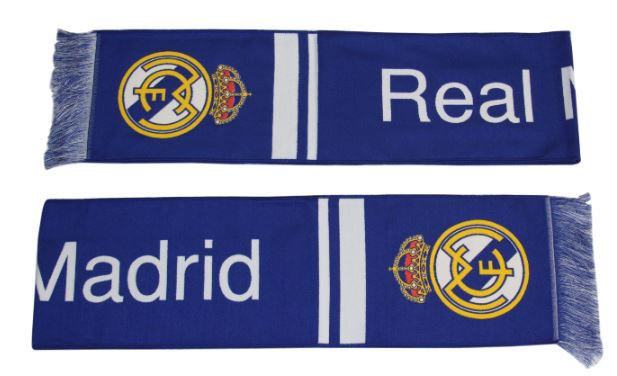 Real Madrid Woven Scarf for Fan + Free !!!