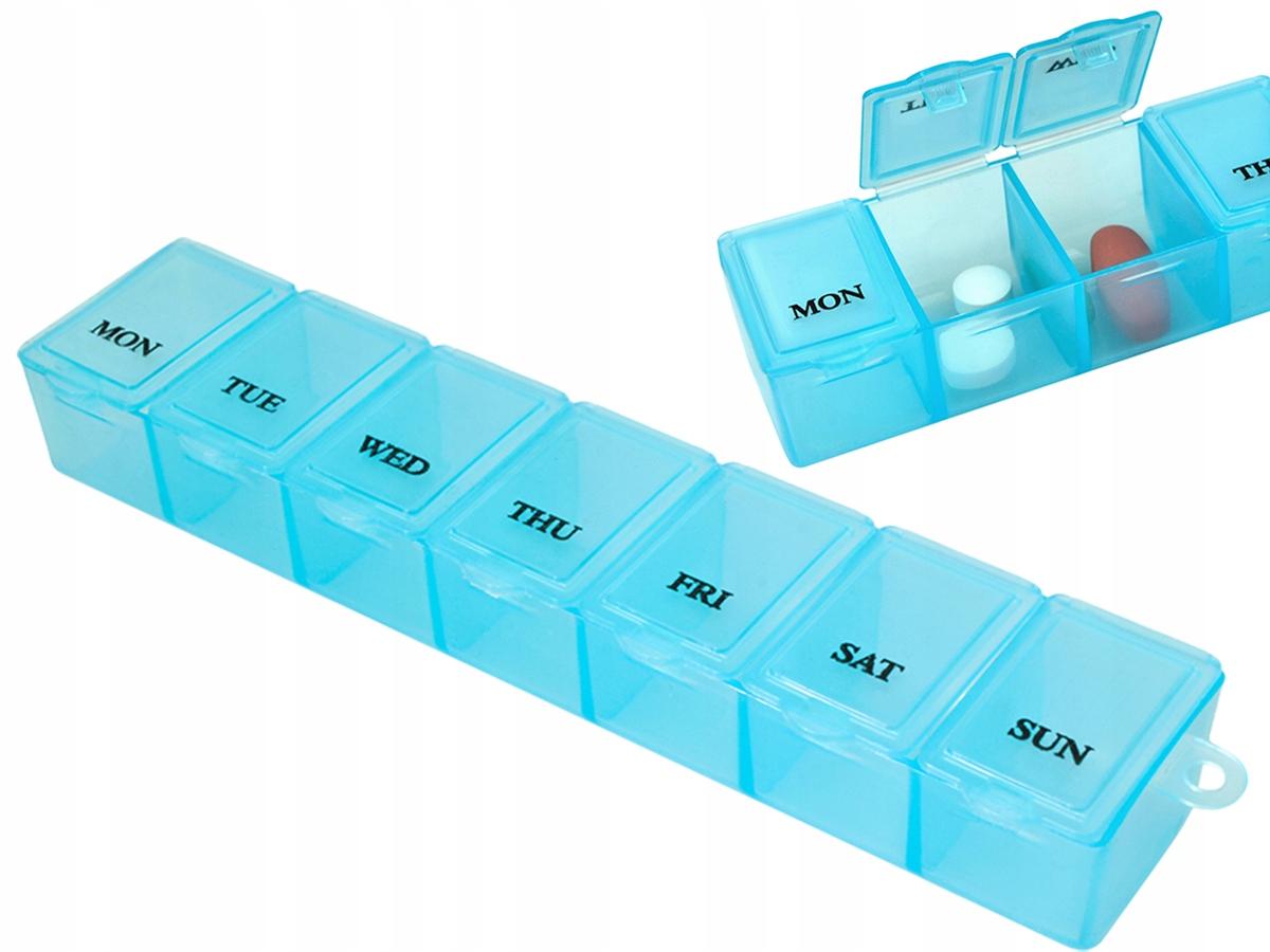 Pojemnik na Leki Kasetka Pudełko na Tabletki 7 Dni