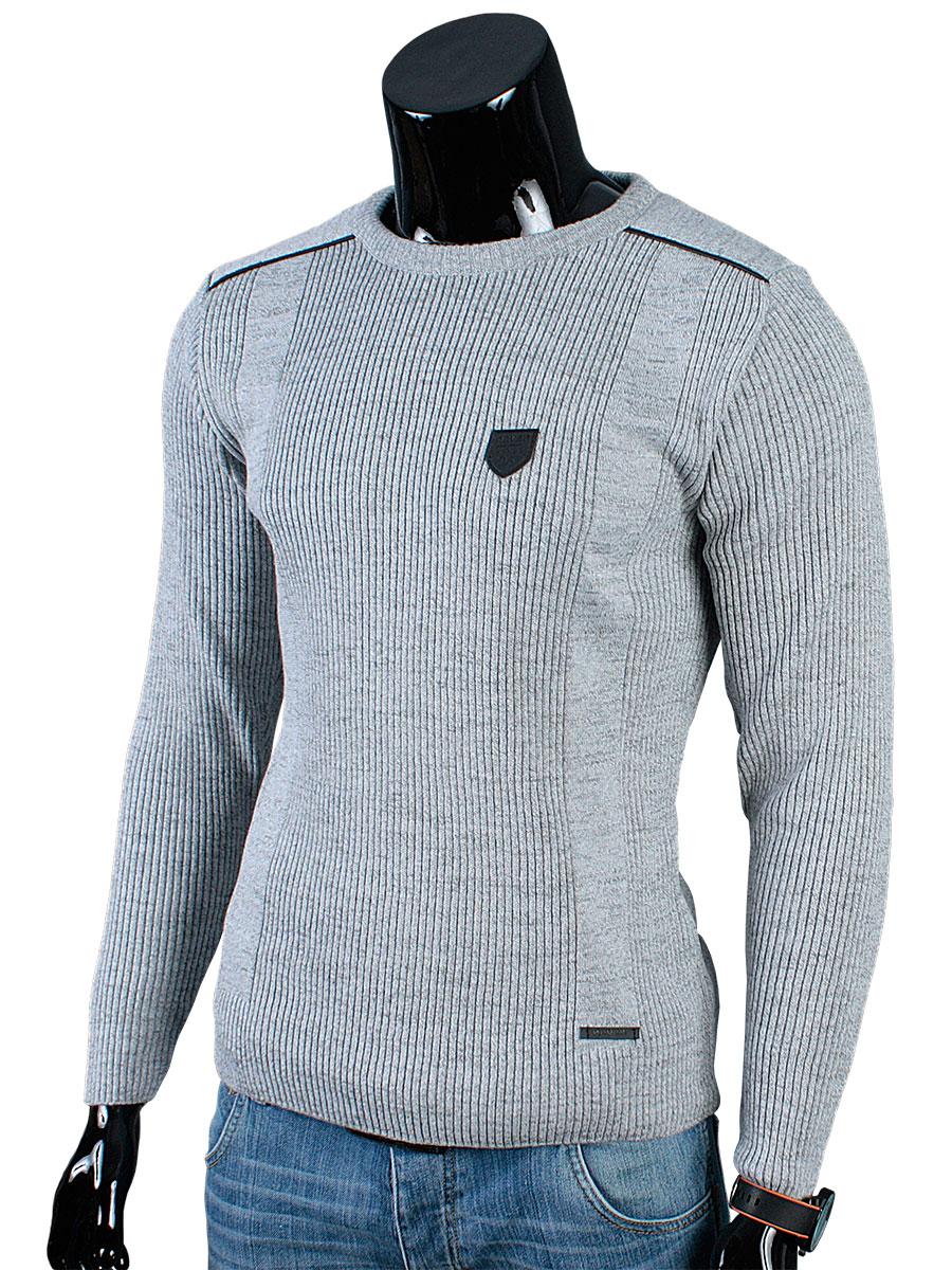 Produkt_pl_sweter Półgolf Łaty N81 Szary__XXL