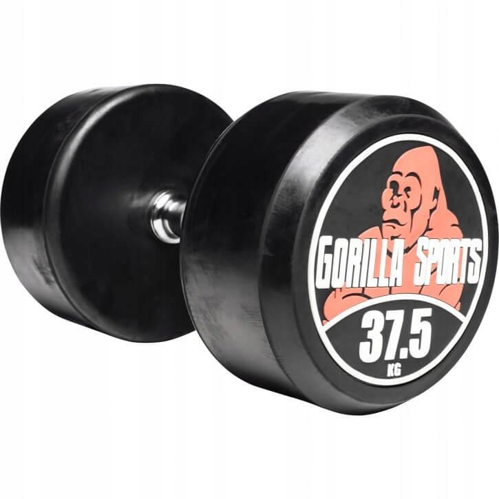 Dumbbell 37.5 kg trvalý profesionálny gumový liatina
