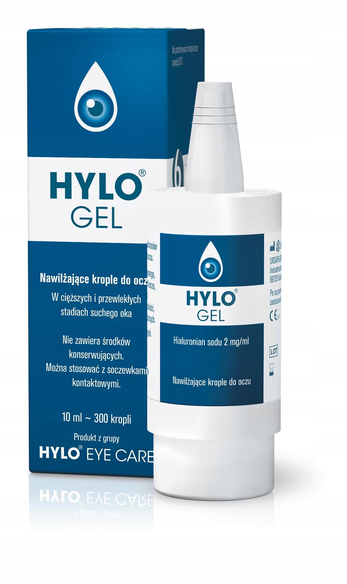 HYLO-GEL krople do oczu 10 ml nawilżające