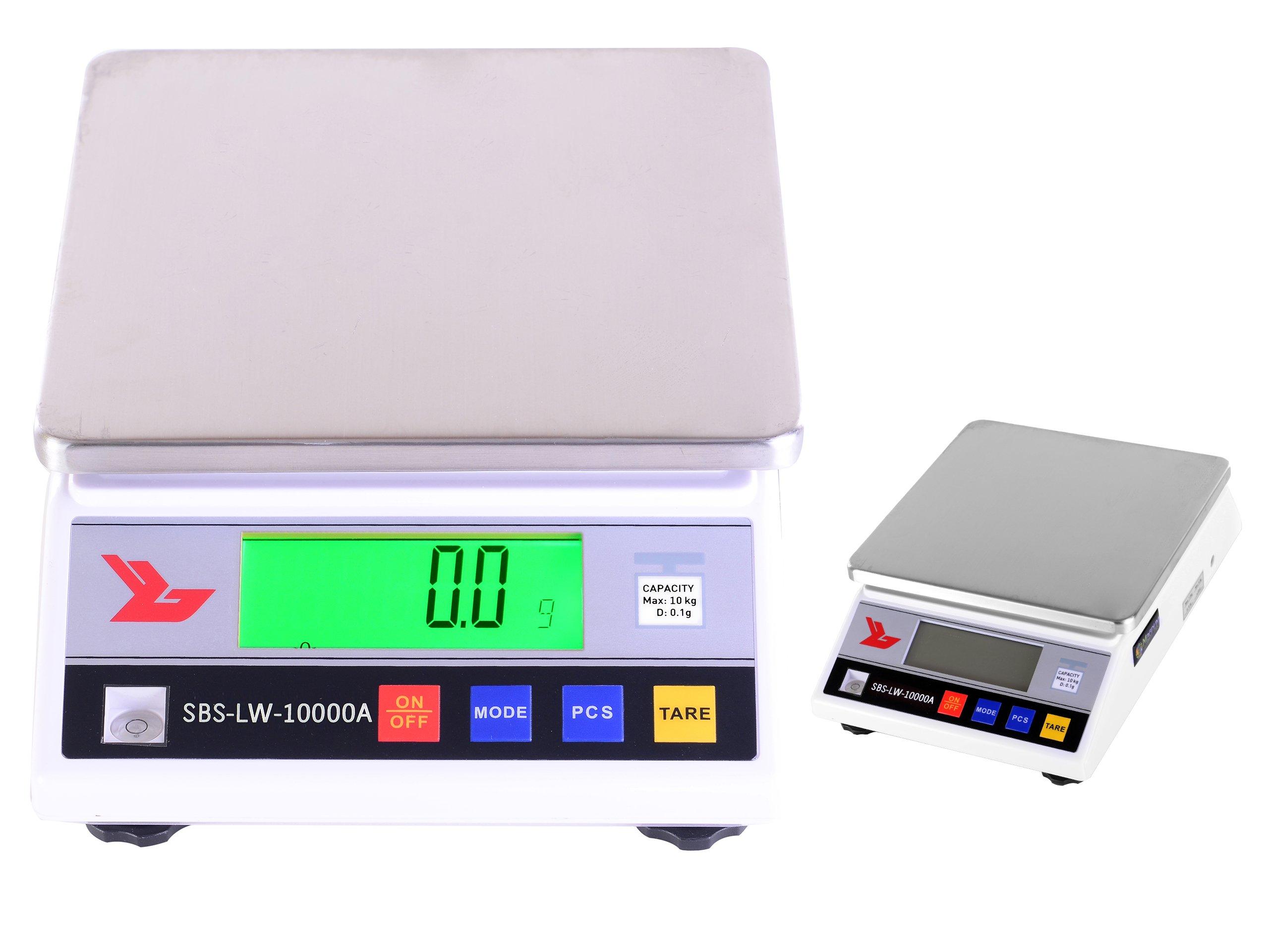 Presné laboratórium hmotnosti 10kg / 0.1g Bat