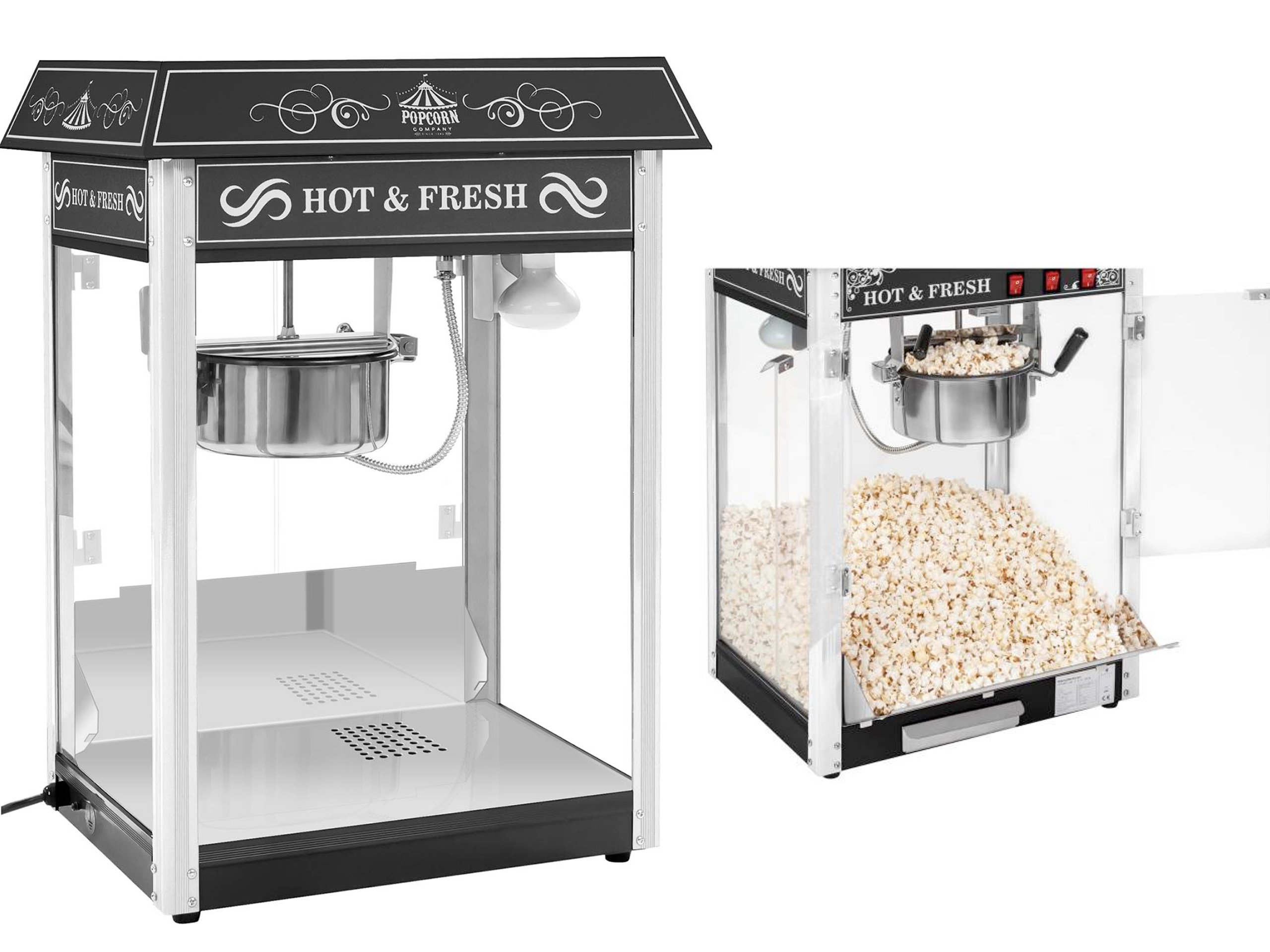 Black American Popcorn Machine! Krásna 1600W