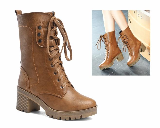 BT50 topánky, členkové topánky RETRO glany POSTARZANE hnedé 41