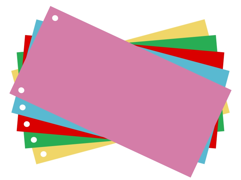 Item Dividers for folders, 1/3 A4 mix, 100 PCs
