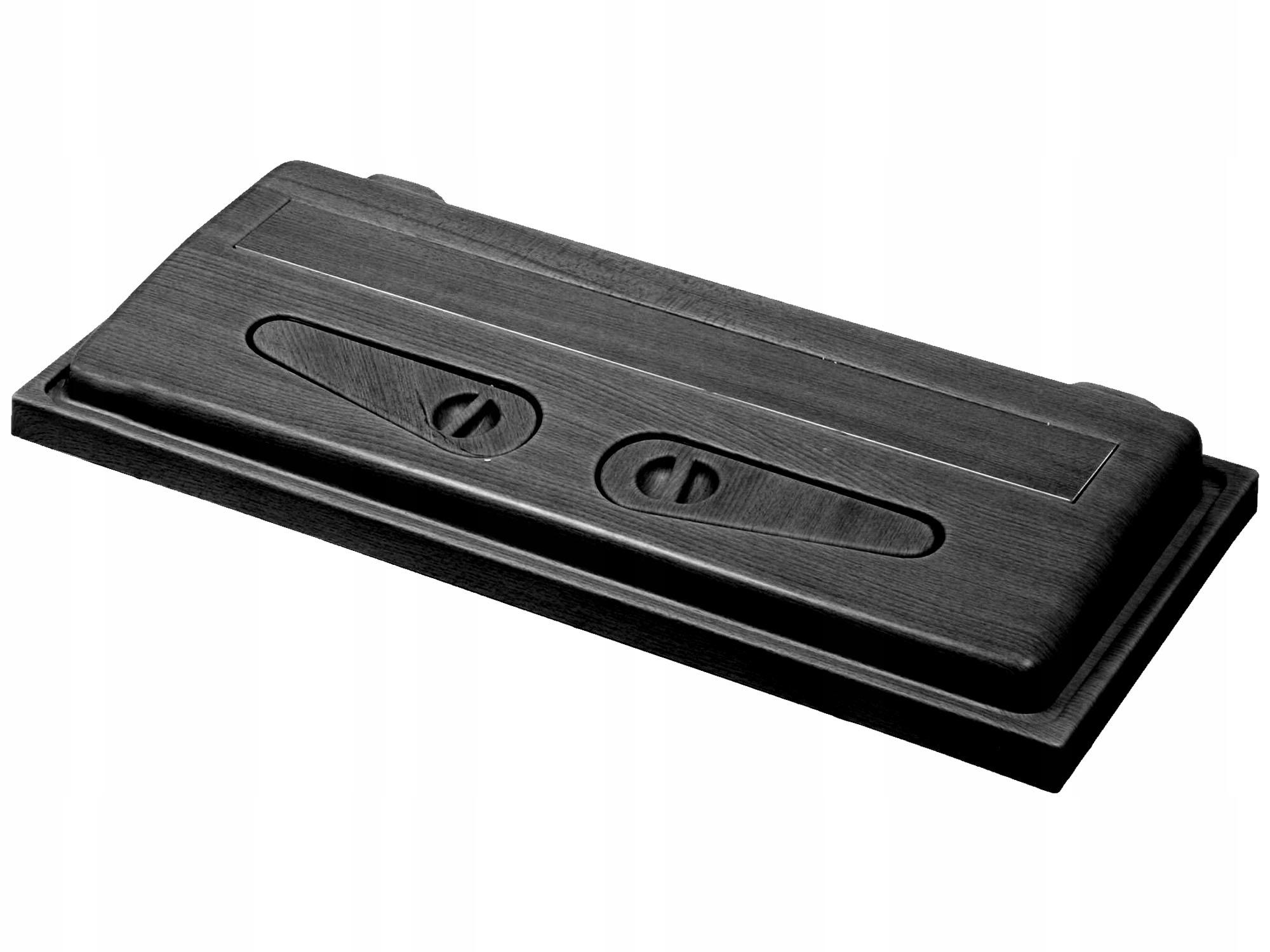 Kryt pre akvárium - čierny jednoduchý 80x35 - Wromak