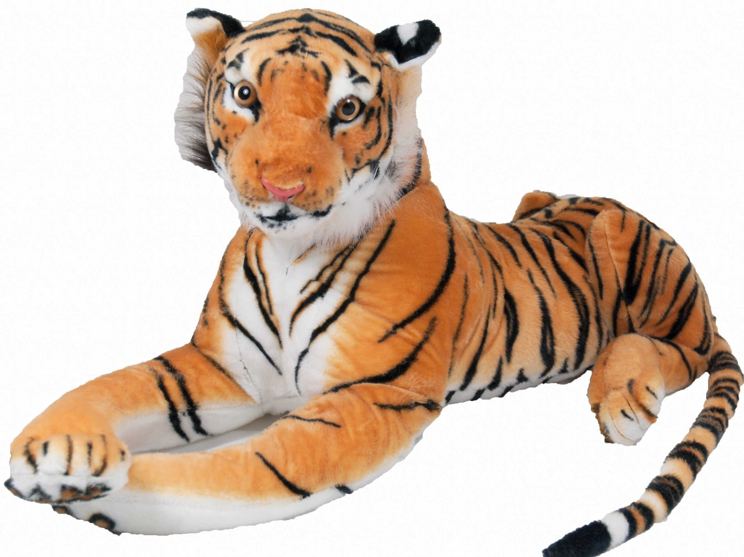BIG TIGER CAT PLUSH TOY BROWN WHITE 110 + 60 cm 2 WZ