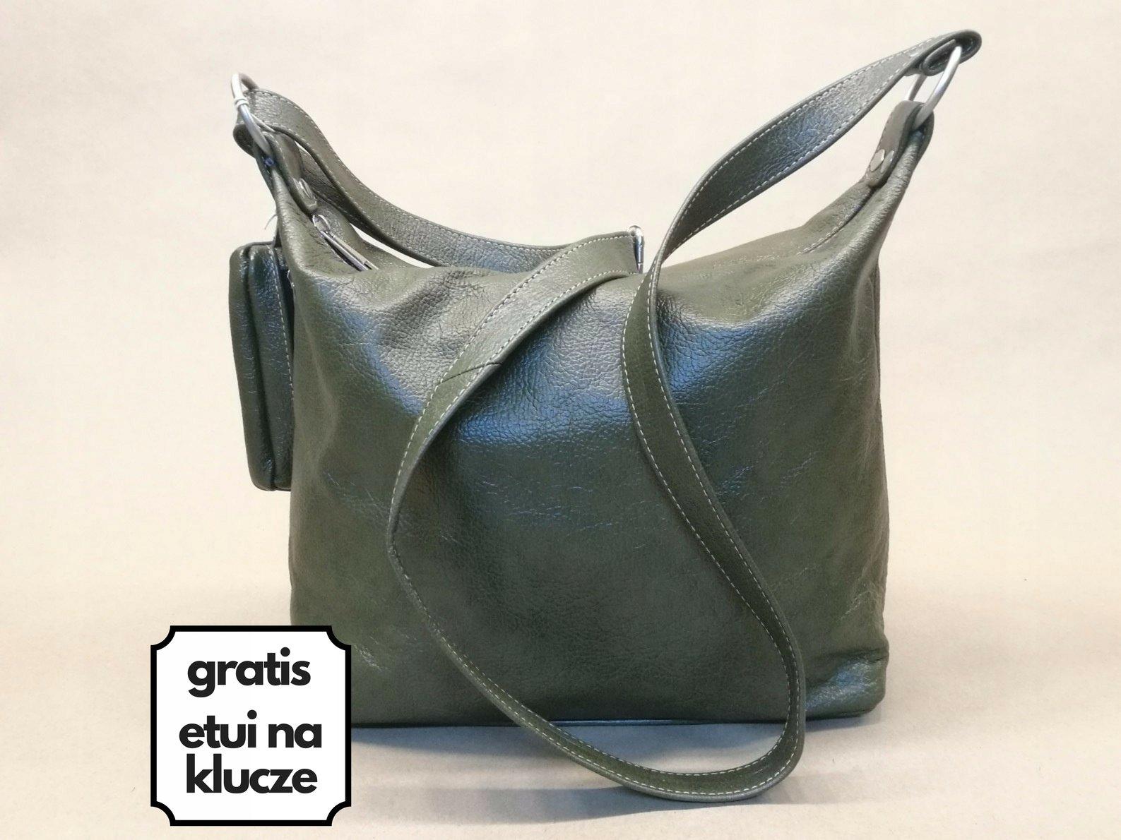 aa4847da31537 Skórzana torebka zieleń handmade SQRATORIUM - 7379738836 - oficjalne ...