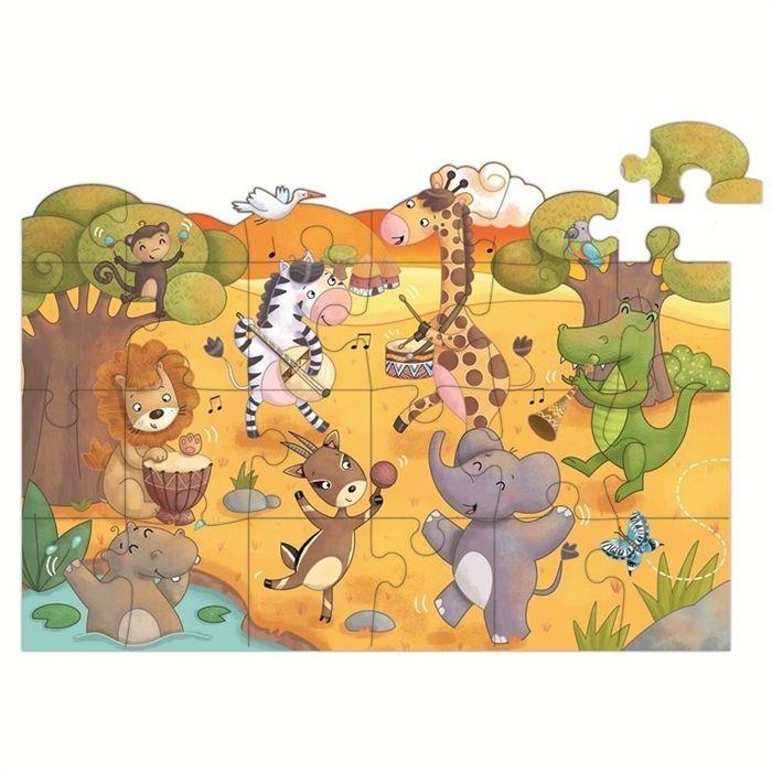 Puzzle klejące na szybę, lodówkę Zwierzęta Aladine