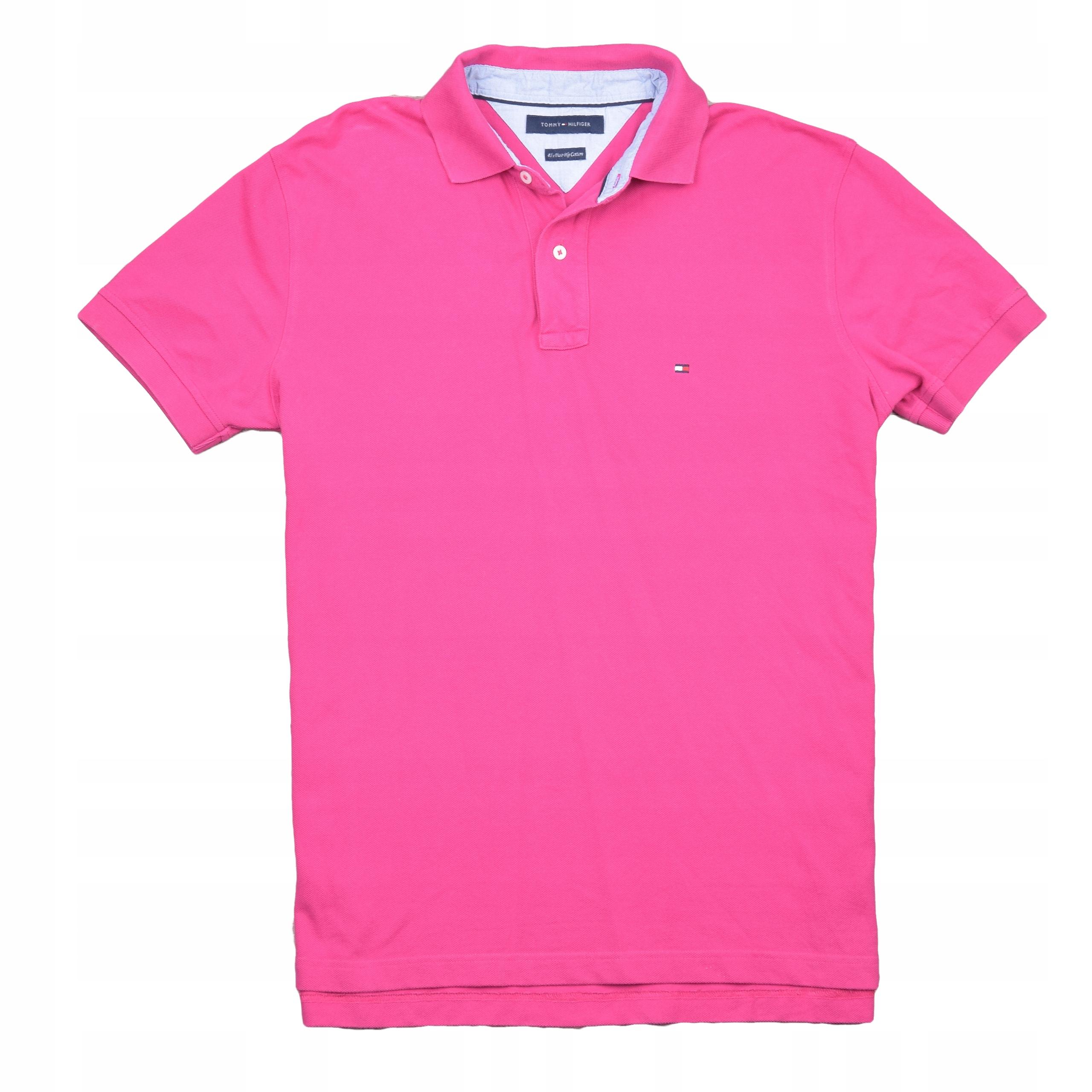 4fc49309d8279 TOMMY HILFIGER koszulka Polo Męska RÓŻ NEW LOGO XL - 7451882078 ...