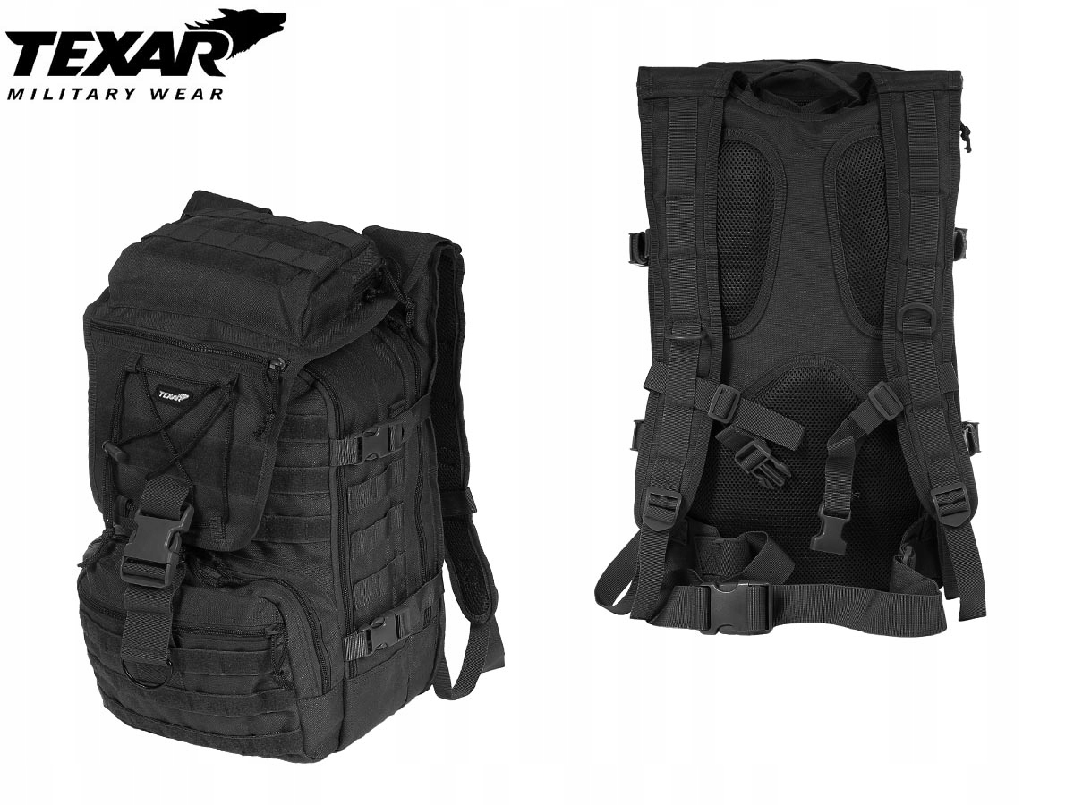 3048423ef56a4 Plecak wojskowy taktyczny TEXAR 35L czarny - 7695699638 - oficjalne ...