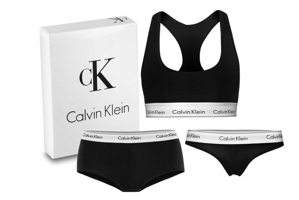 ee4577d8582ca1 Calvin Klein bielizna damska komplet czarny r.40/L - 7466349275 ...