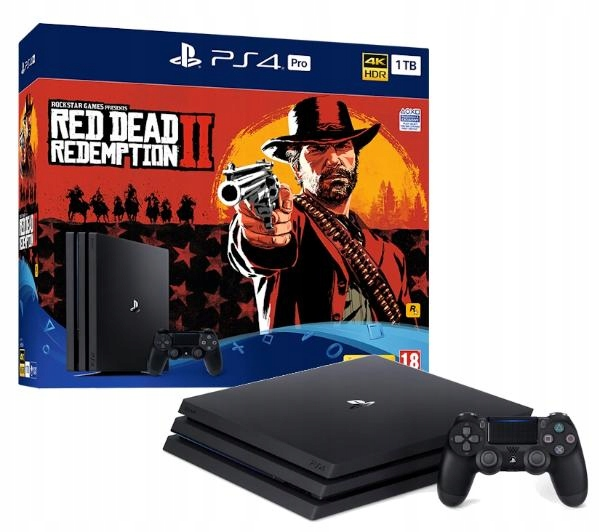 Ps4 Playstation 4 Pro 1tb Red Dead Redemption 2 7636037827