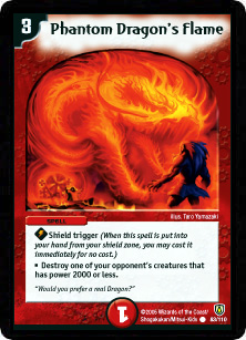 *DM-06 DUEL MASTERS - PHANTOM DRAGON'S FLAME - !!!