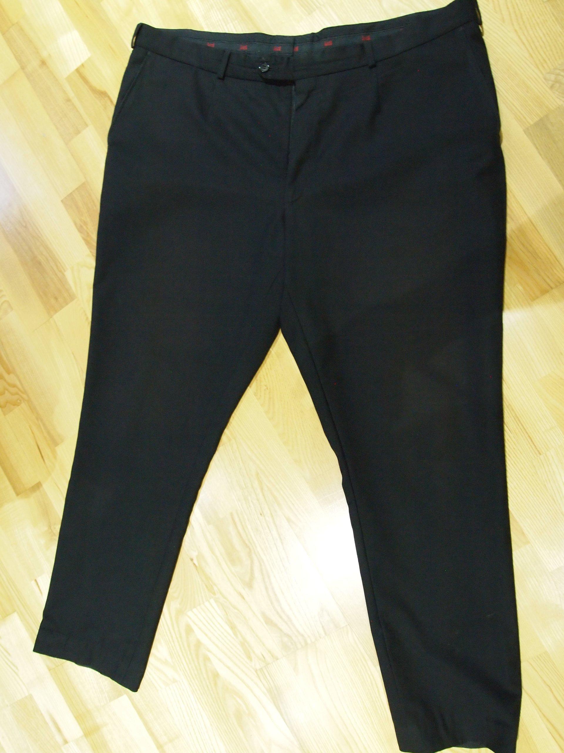 68ee913fa4267 Spodnie garniturowe LORD 2x55cm pas XXL jesień - 7022193165 ...